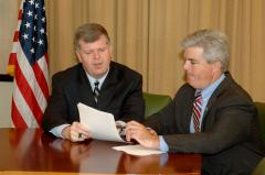 Rich Schaffer meets with Suffolk County Executive Steve Bellone