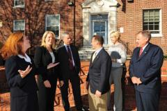 Republican Town Officials outside Town Hall
