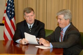 Rich Schaffer meets with Suffolk County Executive Steve Bellone